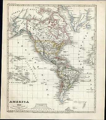 Amazon Com North South America Continents Canada Mexico Usa 1849