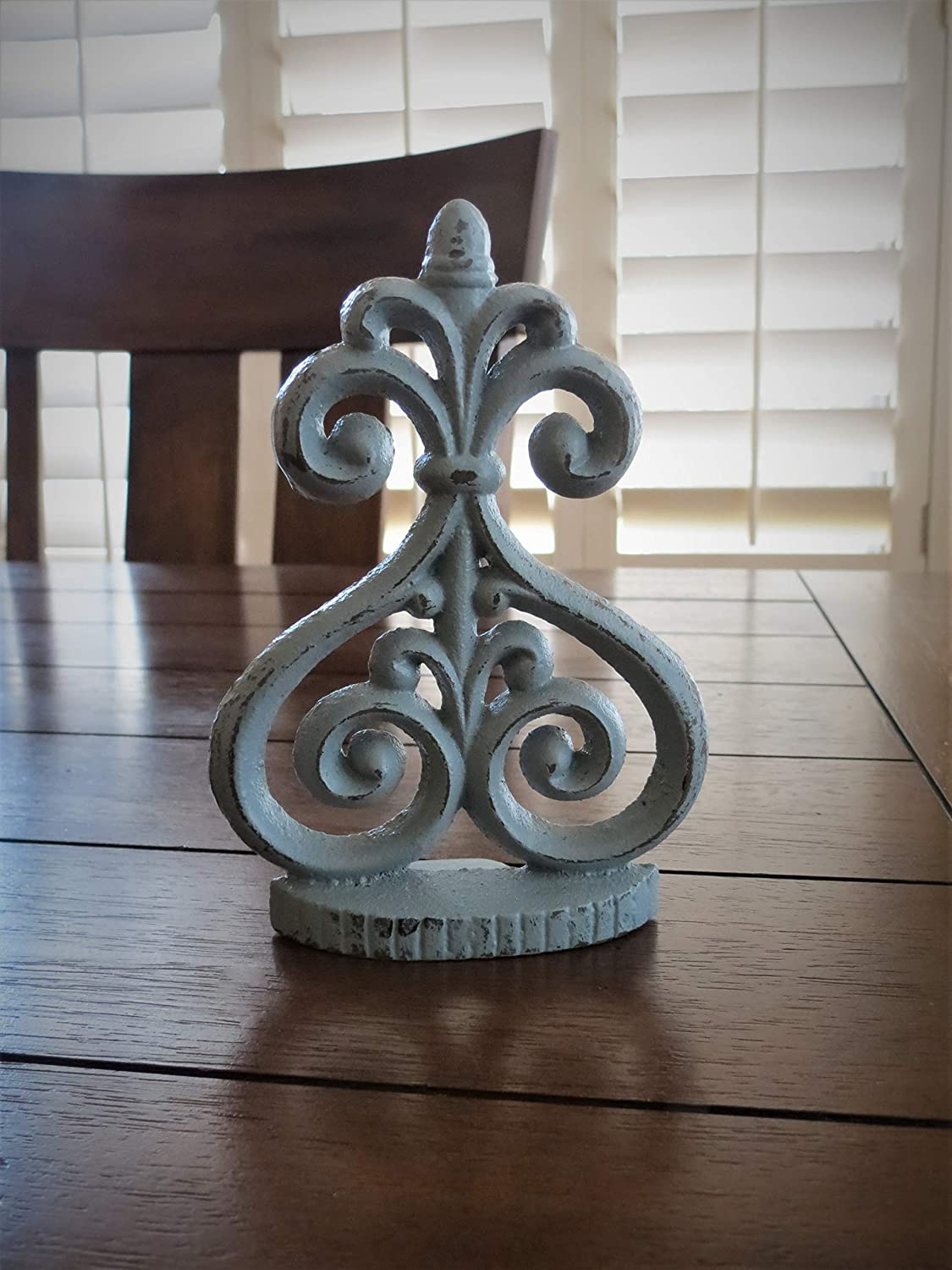 Hand Painted to Order Door Stopper | Solid Cast Iron | Light Grey or Pick Your Color