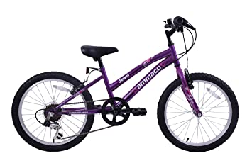 Ammaco Jewel 18 Wheel Girls Kids Bike 6 Speed Mountain Bike