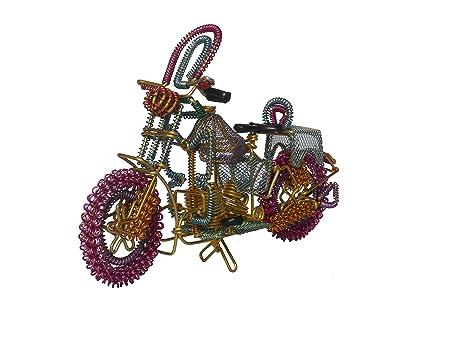 Amazon Com Nandicoindia Home Decor Wire Sculpture Motorbike Hand
