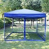 VIVOHOME Outdoor Easy Pop Up Canopy Screen Party Tent with Mesh Side Walls Blue 10 x & Amazon.com : Ozark Trail 9x9 Blue Gazebo Canopy Model # FGA99SL ...