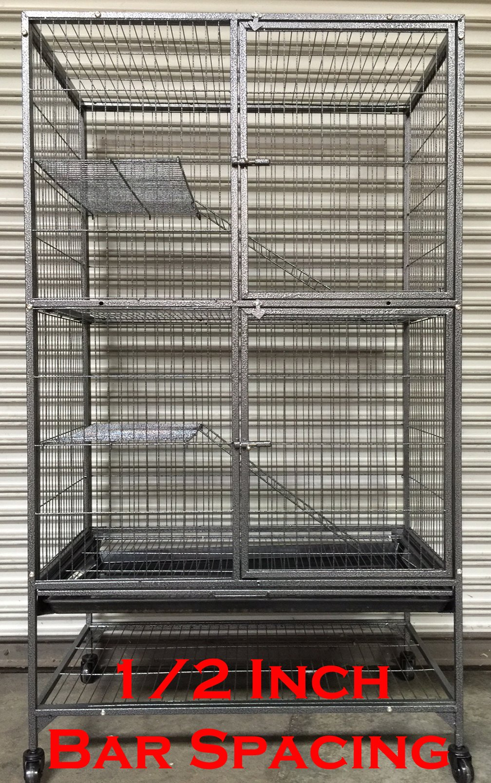 NEW Large Two Story Ferret/Chinchilla/Rat/Dagu/Birds Small Animal Cage 1/2'' Bar Spacing