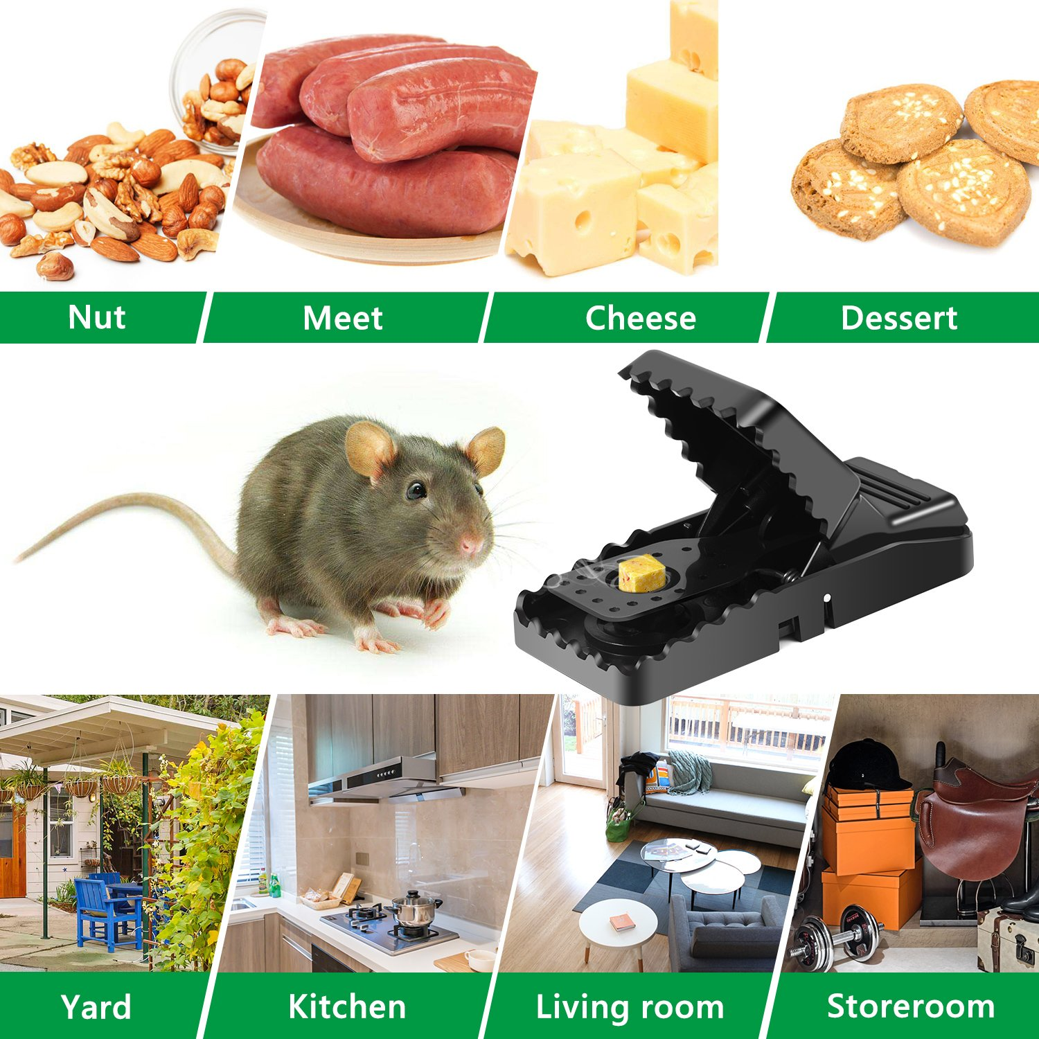 Adoric 4-Pack Mouse/Rats Trap That Work Humane Power Rodent Killer 100% Mouse Catcher Safe for Families and Pet by Adoric (Image #7)