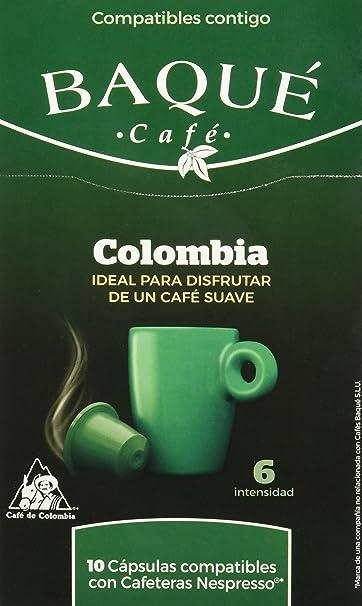 Cafés Baqué Cápsulas Compostables compatibles con Nespresso Colombia