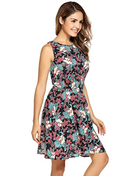 e161a64384b FANEO Cocktail Party Dress Petite Slim Dress Cute Plus Size Dress Daily wear  Dress Tropical Summer Dress Dresses at Amazon Women s Clothing store