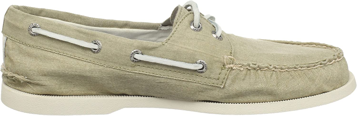 Sperry A/O 2-Eye Canvas salt washed 0836775 Herren Halbschuhe Weiß Beige