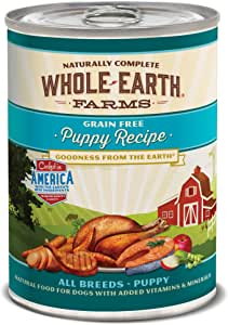 Whole Earth Farms Grain Free All Breed Wet Dog Food Puppy & Adult Whole Grains and Grain Free (Case of 12)