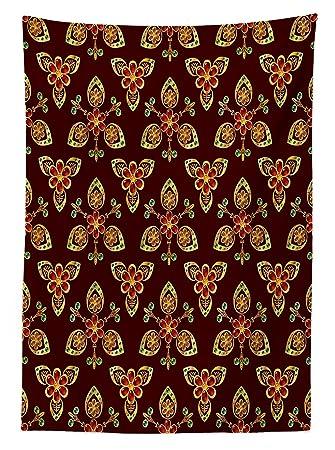 Antik Tischdecke Klassischen Floral Arabesque Islamische Muster In  Lebhaften Farben Artsy Bild Esszimmer Küche Tisch,