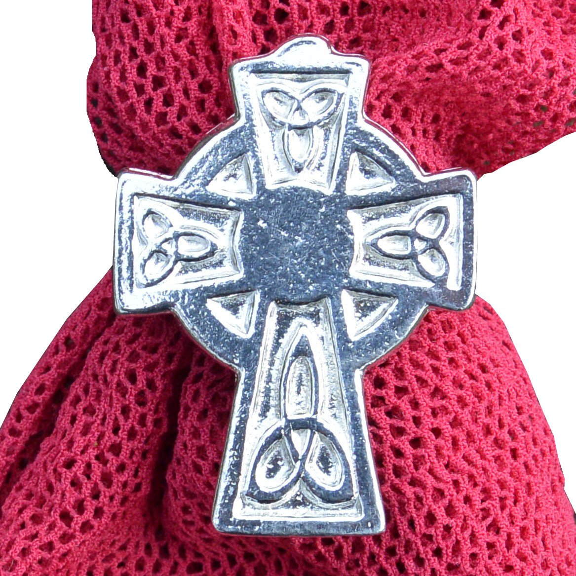 Luxury Fine Pewter Bathgate Celtic Cross Scarf Ring, Handcast by William Sturt