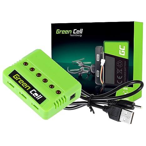 Green Cell Cargador de Batería RC para Syma Hubsan JJRC ...