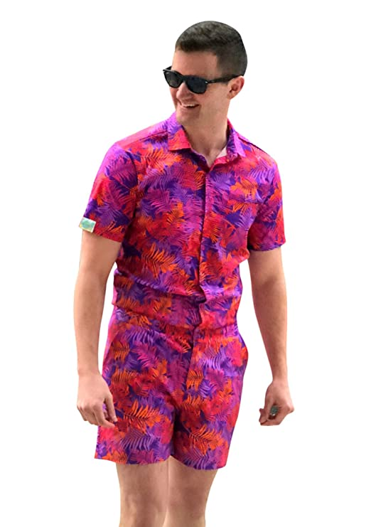 Zesties Male Romper (Extra Small, Autumn Tropics)