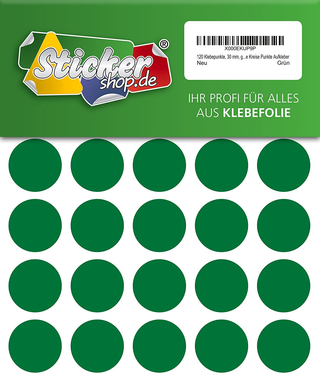grau 480 Klebepunkte aus PVC Folie wetterfest 15 mm Markierungspunkte Kreise Punkte Aufkleber