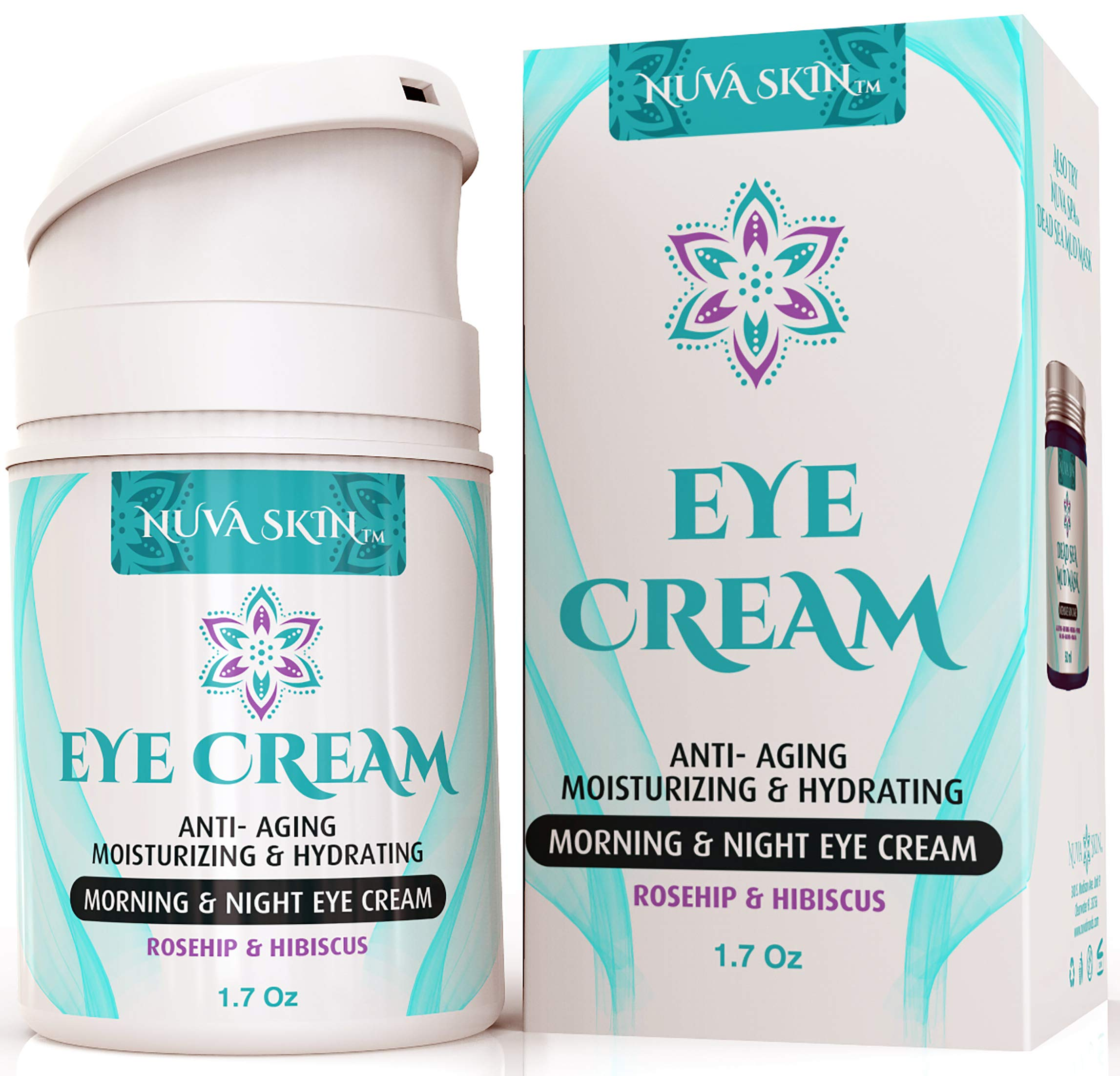 9a801516019 Nuva Skin Intensive Eye Cream with Rosehip & Hibiscus – Anti-Aging Under  Eye Cream