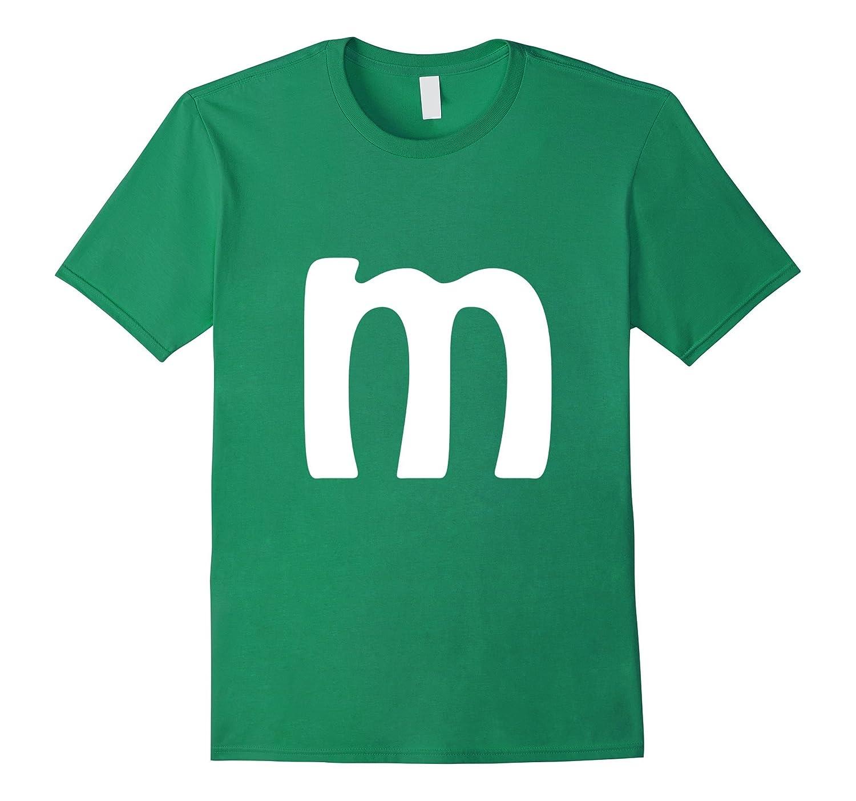 M Letter Brilliant Last Minute Halloween Costume T-shirt-T-Shirt