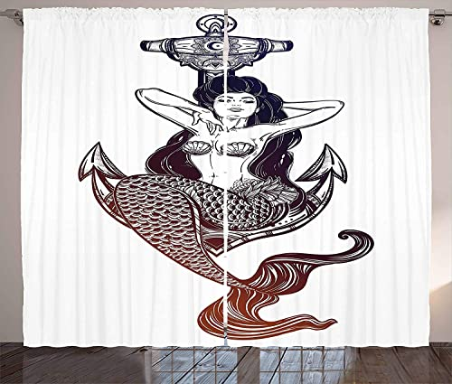 Red Vow Anchor Curtain
