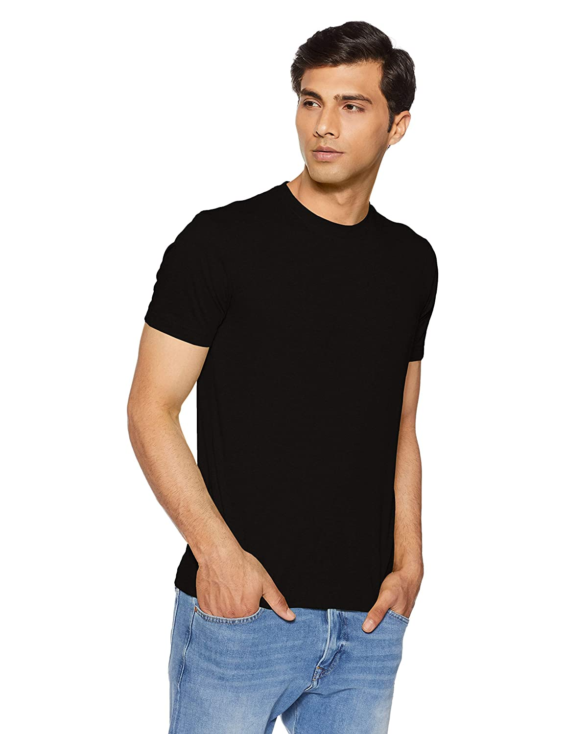Black casual wear t shirts