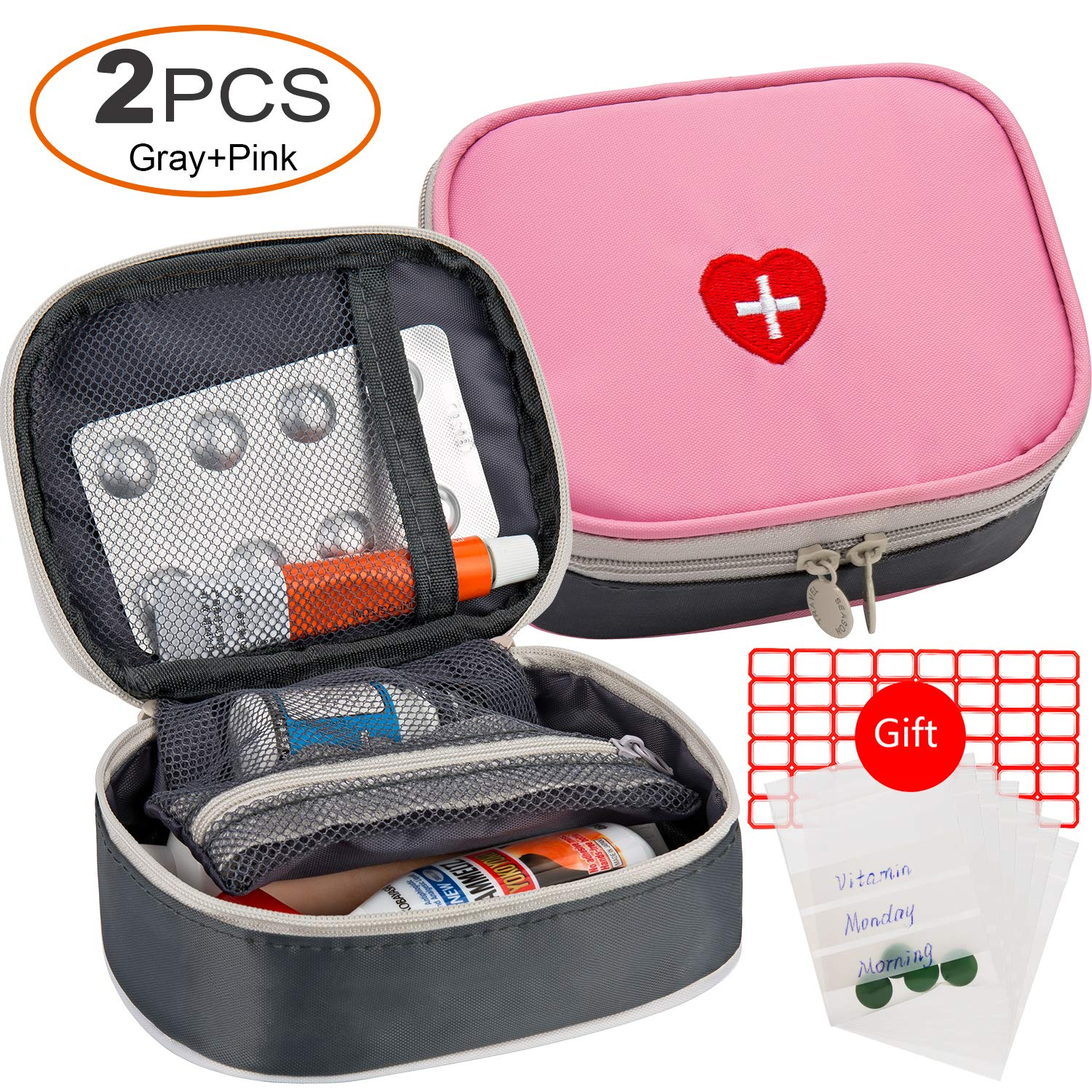 2pcs Portable Mini First Aid Kit
