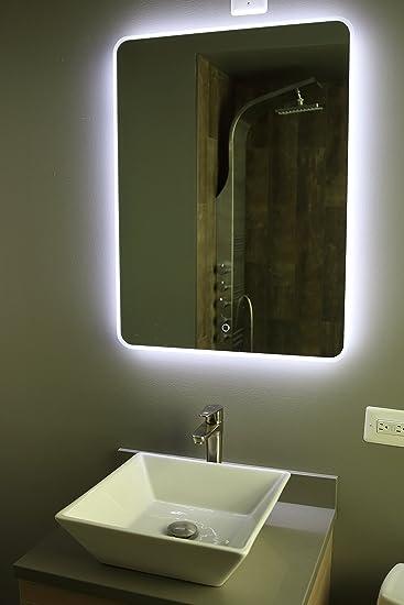 Back Lit Mirror  Fly Fl3 Backlighted Mirror And Bathroom Vanity. Led Light Mirror Bathroom   Poxtel com