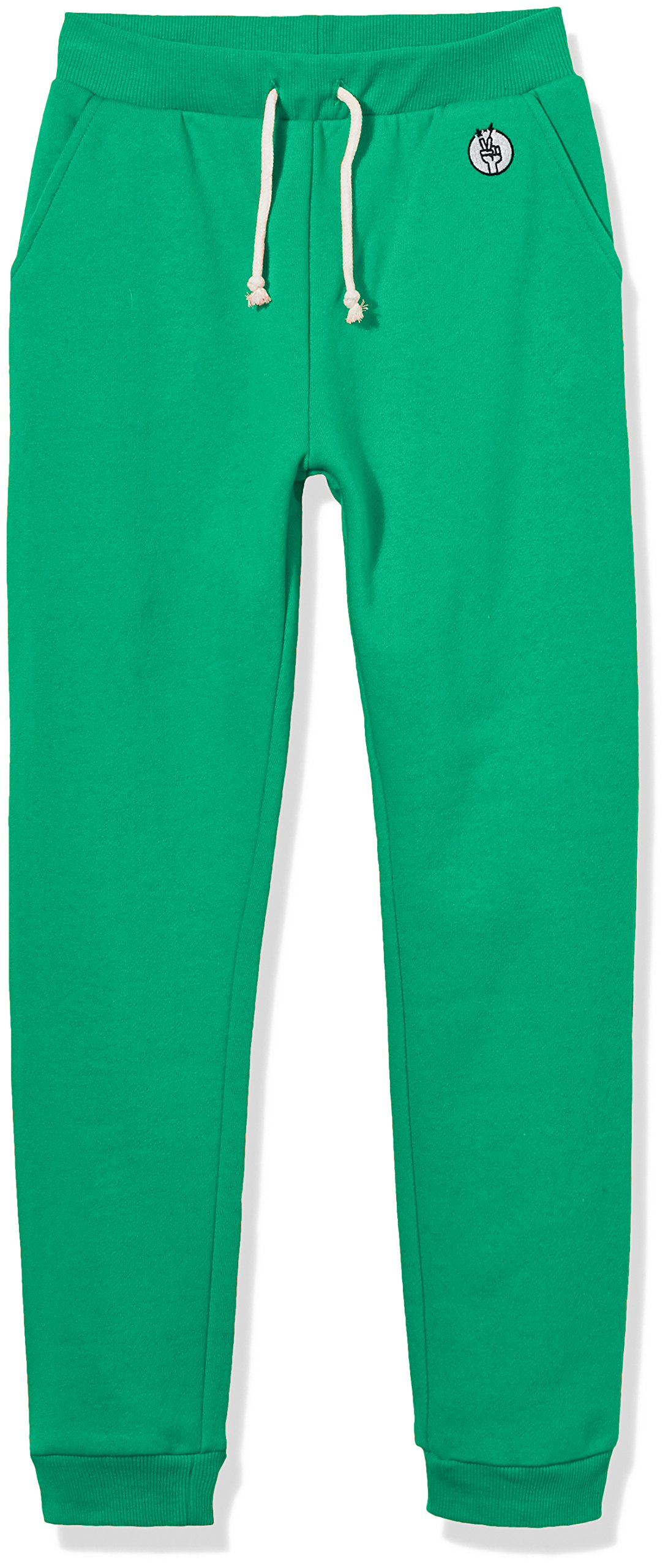 Kid Nation Kids' Fleece Jogger Pants for Boys or Girls M Green 01