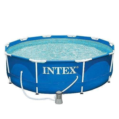 Intex 28202UK 10 ft x 30-Inch Metal Frame Pool Set - Blue