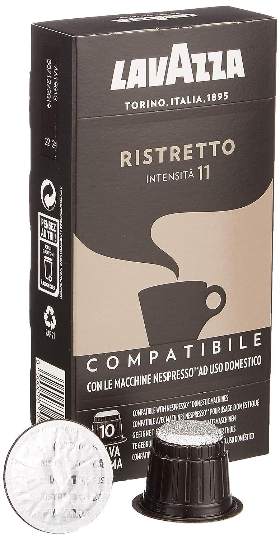 Lavazza Espresso Ristretto 10 Kapseln, Nespresso kompatibel, 5er Pack (5 x 53 g)