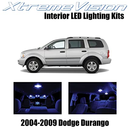 Amazon.com: XtremeVision Dodge Durango 2004-2009 (7 Pieces) Blue Premium Interior LED Kit Package + Installation Tool: Automotive