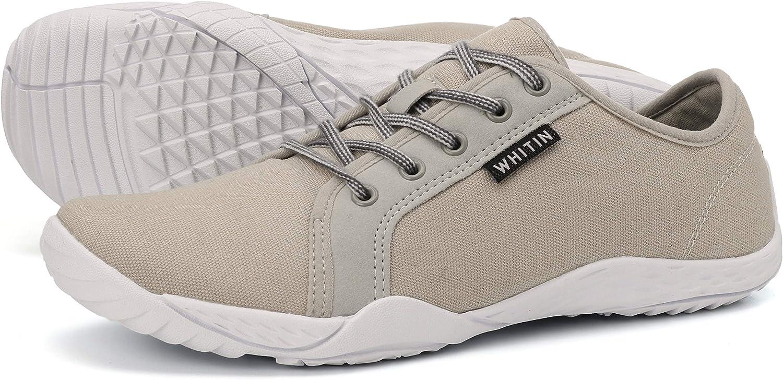 JOOMRA Zapatillas minimalistas de lona para mujer con soporte de ...