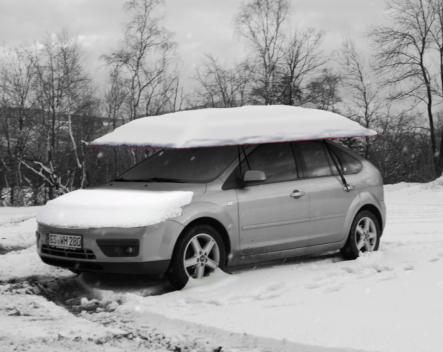 LANMODO Car Tent, Also Can be Popup Tent, Beach Tent with Anti-UV, Water-Resistant, Proof Wind, Snow, Storm, Falling Objects Features, Fit to All Cars (with STAND)
