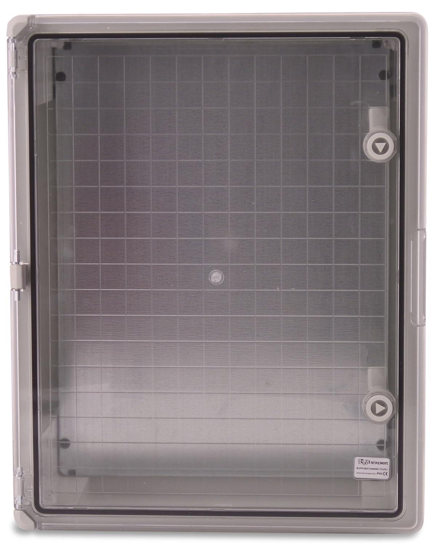 BOXEXPERT Caja de armario mural 400x500x175mm IP 65 gris RAL7035 Caja de distribuci/ón para armario de distribuci/ón