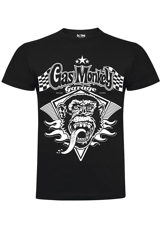 Gas Monkey Garage T-Shirt Monkey Flame Black