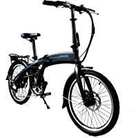 """Totem Electric Bicycle 250W Commuter Series 20"""" Folding Bike w/Removable 36V Battery, 5 Level Pedal Assist and Pedal-Free Mode, USB Charging Port, Lightweight 44 lbs, Ships Fully Assembled"""