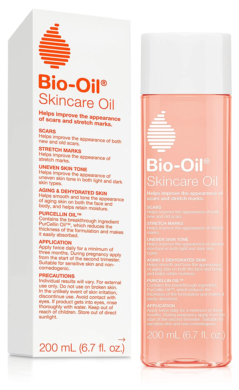 Bio-Oil Skincare Oil, 6.7 Ounce, Body Oil for Scars and Stretch Marks, Hydrates Skin, Non-Greasy, Dermatologist Recommended, Non-Comedogenic, For All Skin Types, with Vitamin A, E: Beauty