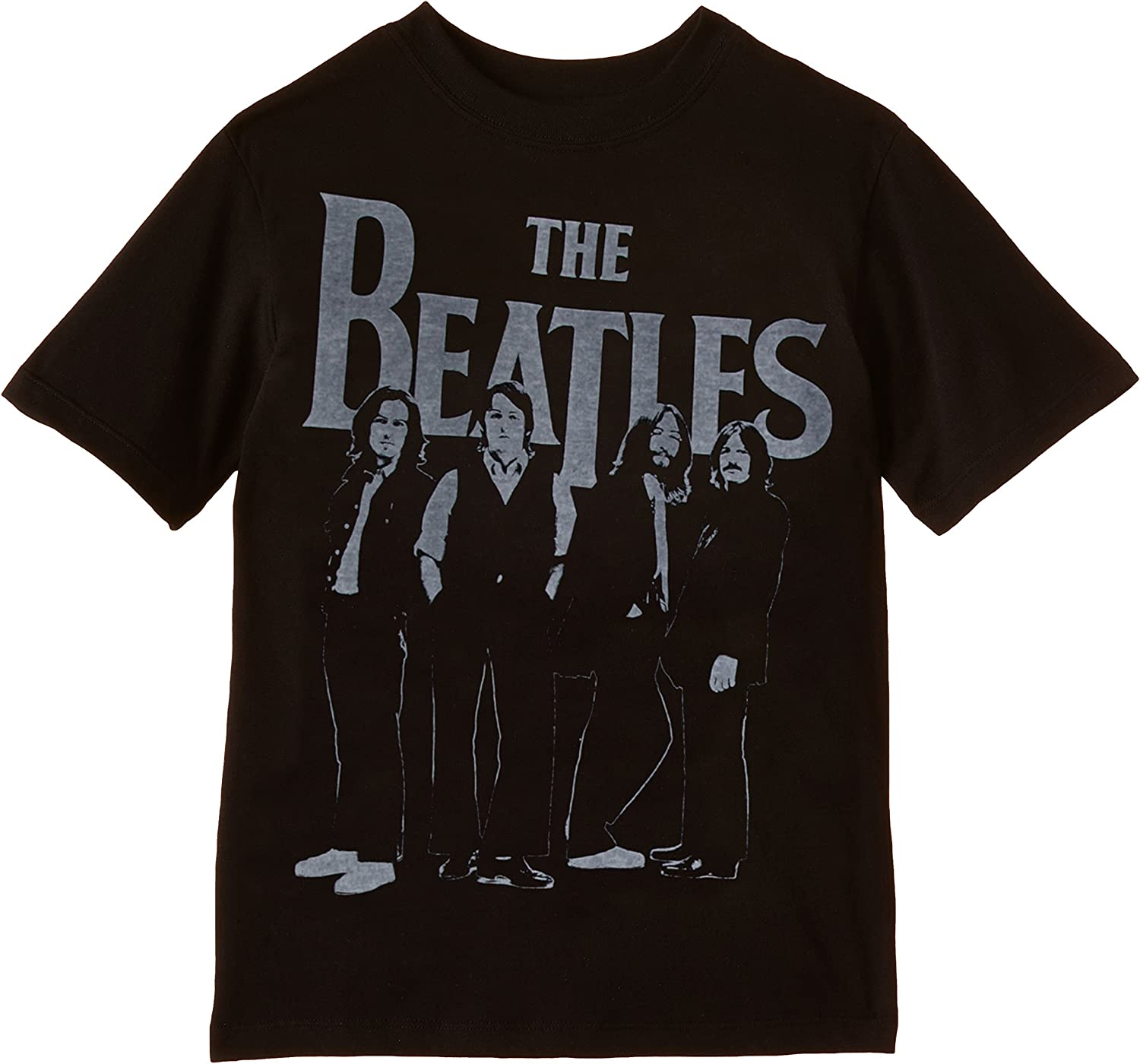 Beatles Iconic Logo Boy's T-Shirt, Black
