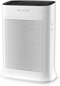 Rowenta 7211003489 PU3040U0 Air Purifier with True Hepa, Active Carbon, and Formaldehyde Filters, 243 Sq Ft, White