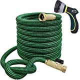 TheFitLife Flexible and Expandable Garden Hose - 13-Layer Latex Water Hose with Retractable Fabric, Solid Brass Fittings and