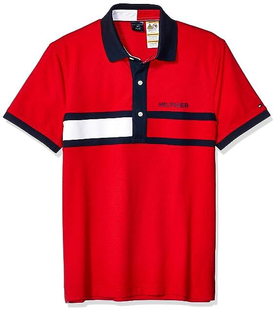 Tommy Hilfiger - Polo para Hombre con Botones magnéticos - Rojo ...