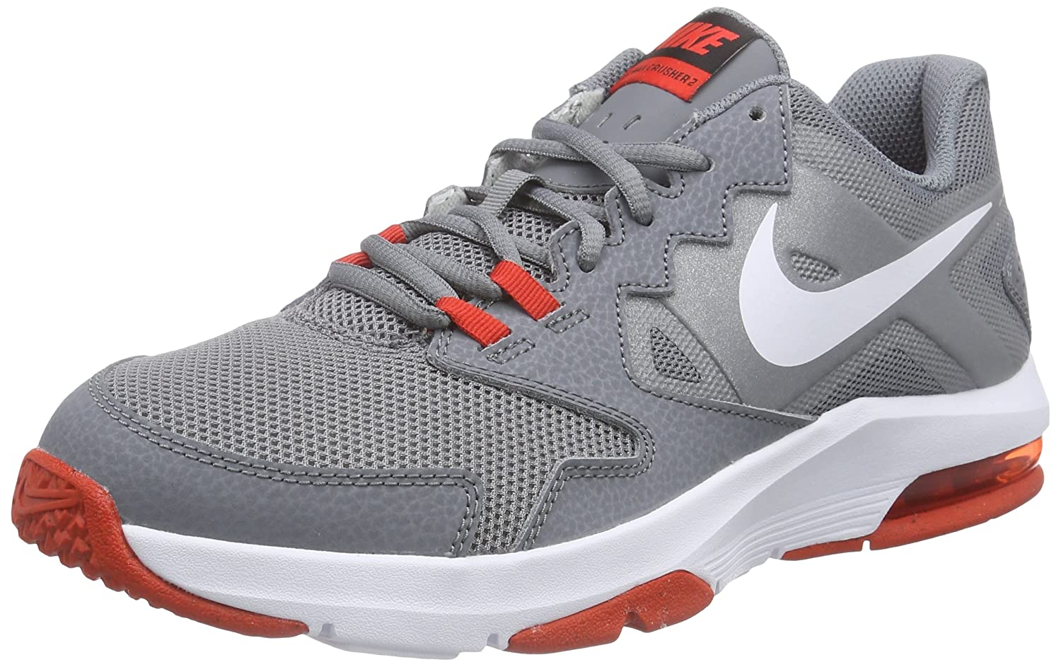 Amazon.com | Nike Men's Air Max Crusher 2 Cross Trainer (13, COOL  GREY/CHALLENGE RED/BLACK/WHITE) | Running