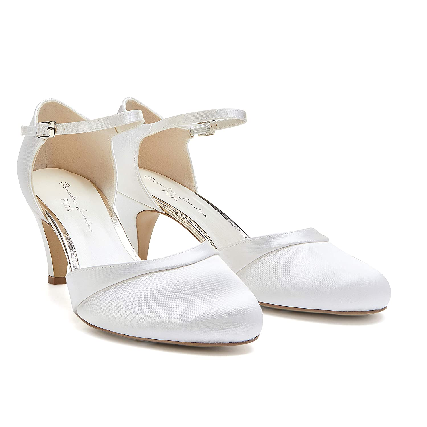 684bff495 Paradox London Women's Augustine Satin Wedding Shoes Bridal Mid Heel Court  Shoes: Amazon.co.uk: Shoes & Bags