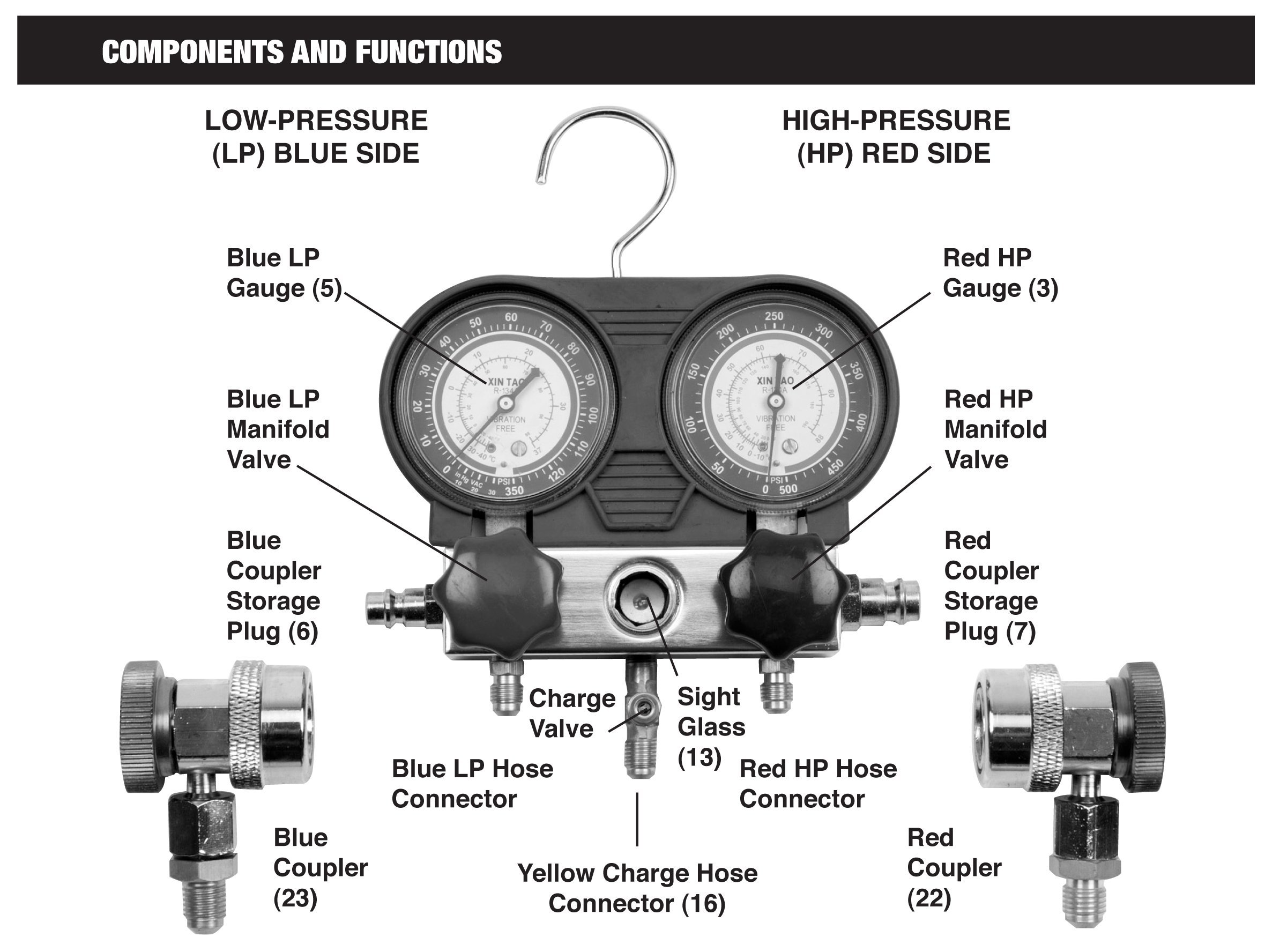 Performance Tool W89730 A/C Manifold Test Gauge Kit by Performance Tool (Image #4)
