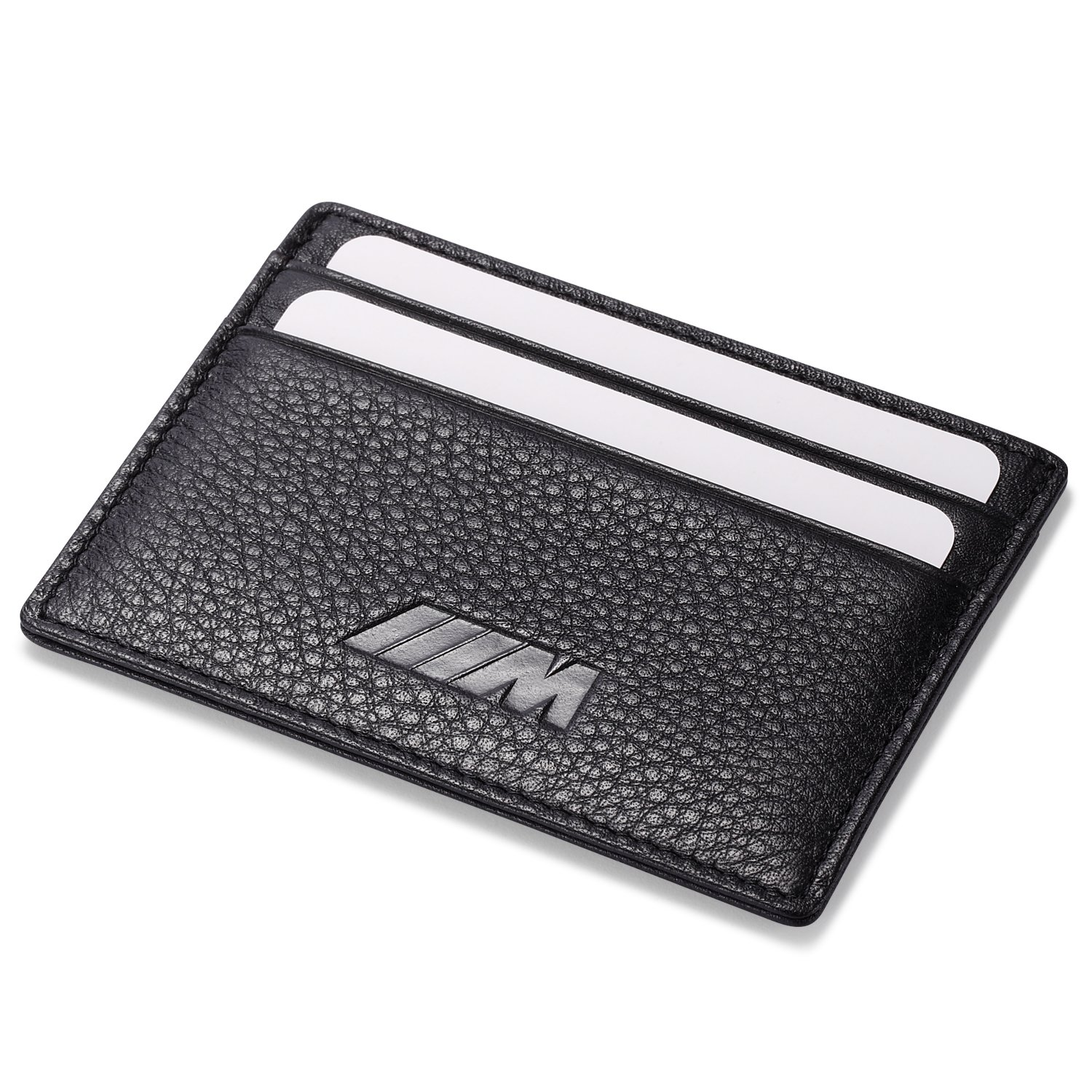 ///M BMW Slim Wallet Black with 4 Credit Card Slots - Genuine Leather Leather Wallets