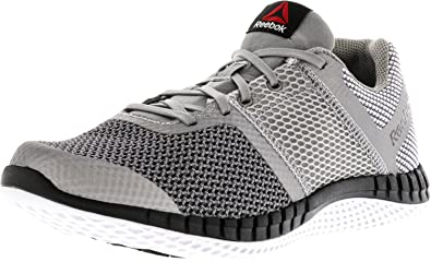 Reebok Boy s Zprint Run Grey Shark Black Silver Ankle-High Running Shoe - 7M 2db57d866