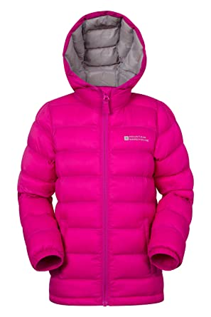 288a602f1 Mountain Warehouse Seasons Kids Padded Jacket - Water-Resistant,  Lightweight Microfiber with Two Front Pockets & Elasticised Cuffs - Great  for Winter ...