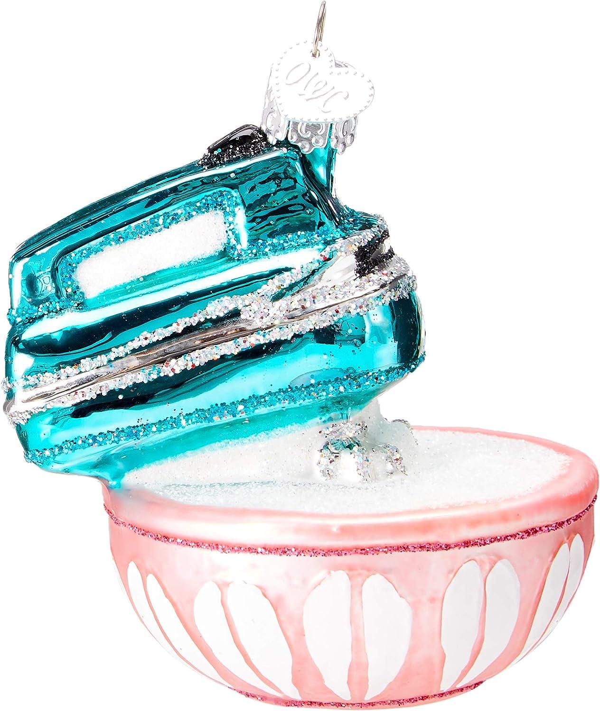32294 Old World Christmas Glass Blown Ornament Hand Mixer