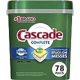 Cascade Complete ActionPacs Dishwasher Detergent, Lemon Scent, 78 Ct (Set of 2)