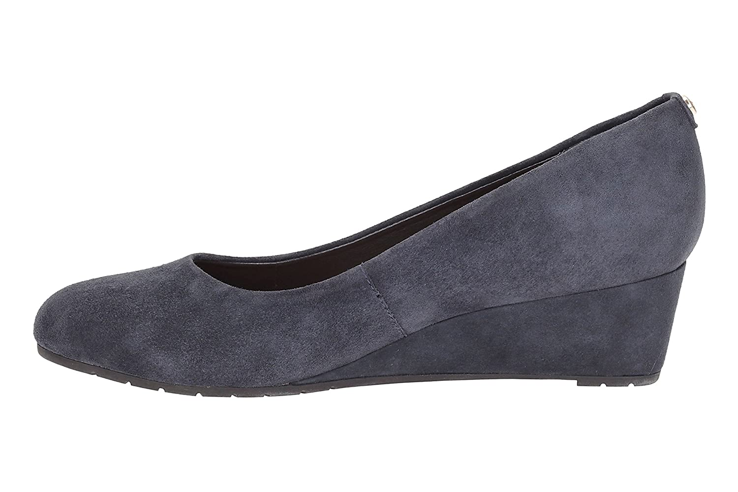 2e9721d87699 Clarks Women s Closed Toe Wedge Shoes Vendra Bloom Navy Suede   Amazon.co.uk  Shoes   Bags