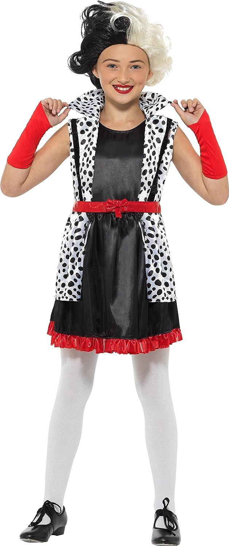 Smiffys 49696s mal Little Madame Costume, blanco y negro, S - UK 4 - 6 años de edad: Amazon.es: Juguetes y juegos
