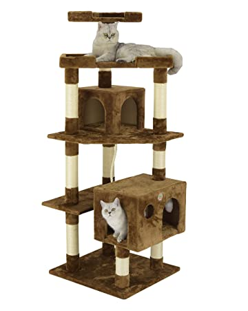 Amazon.com: GO Pet Club 60,5 en. Cat Árbol 5-level Scratcher ...