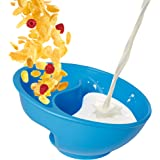 Obol - The Original Never Soggy Cereal Bowl / With The Spiral Slide Design 'n Grip - Med Blue