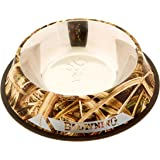 """Browning Camouflage Stainless Steel Pet Dish - XLarge - Mossy Oak Blades Camo - 11"""" Diameter"""