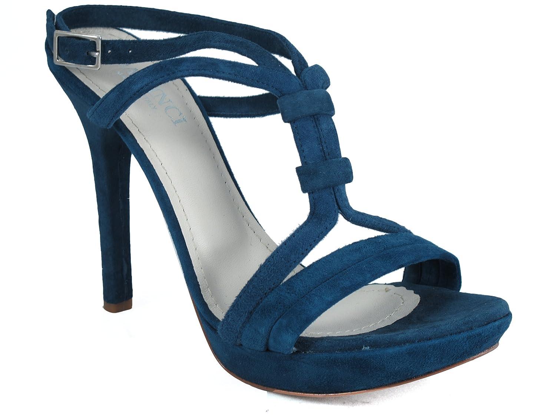 DaVinci Women's 3788 Navy B(M) Blue High Heel Platform, Dressy Italian Sandals, 36 B(M) Navy EU 5 M US B00527BC3K 4b86fb